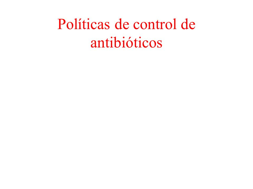 Políticas de control de antibióticos