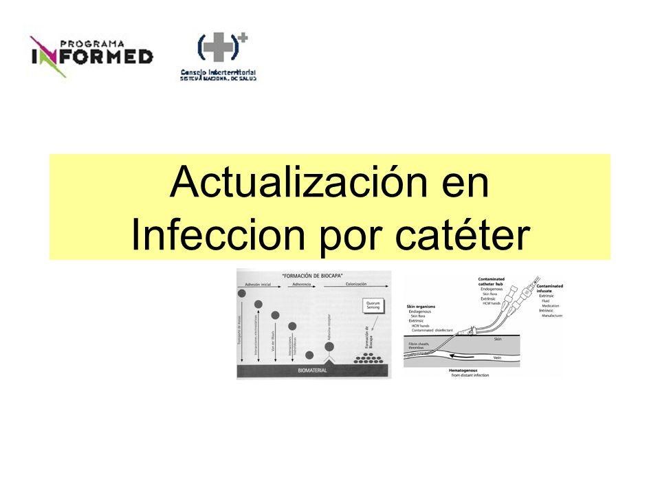 ¿Explica la infección del catéter la clínica.