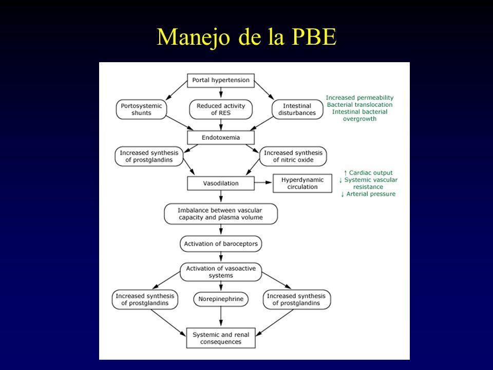 Expansión plasmática en la PBE % Expansión con albúmina No expansión DFR1033 Mortalidad hospitalización1029 Mortalidad 3 meses2241
