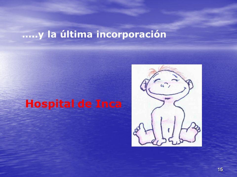 15 …..y la última incorporación Hospital de Inca