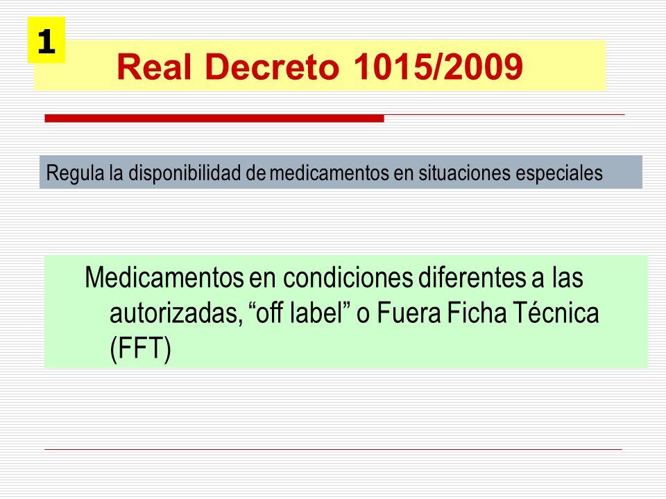 Regula la disponibilidad de medicamentos en situaciones especiales Medicamentos en condiciones diferentes a las autorizadas, off label o Fuera Ficha T
