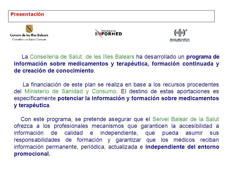 Presentación Se estructura en tres líneas: 1 Desarrollo de sistemas asistidos de ayuda a la prescripción electrónica.