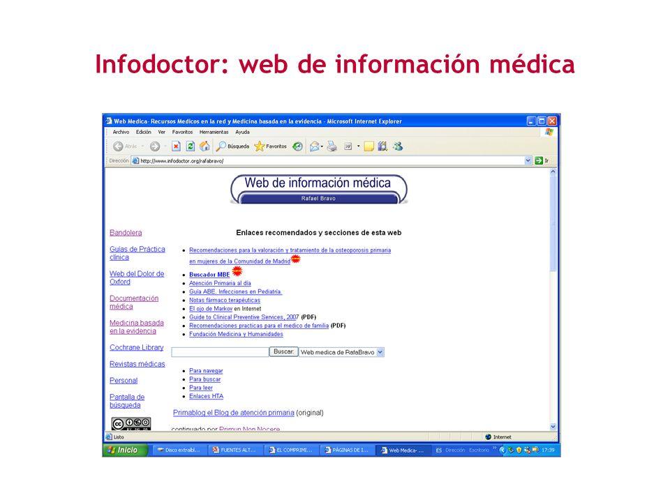 Infodoctor: web de información médica