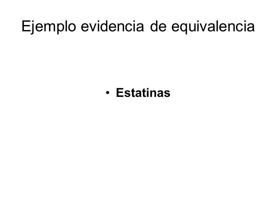 Ejemplo evidencia de equivalencia Estatinas