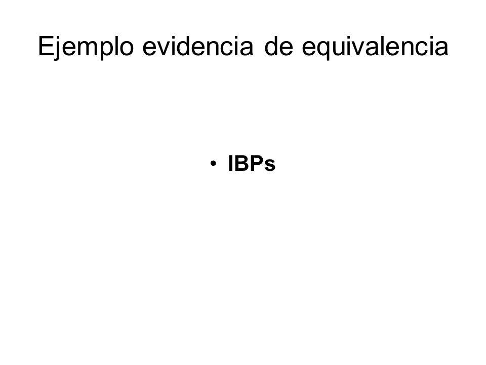 Ejemplo evidencia de equivalencia IBPs