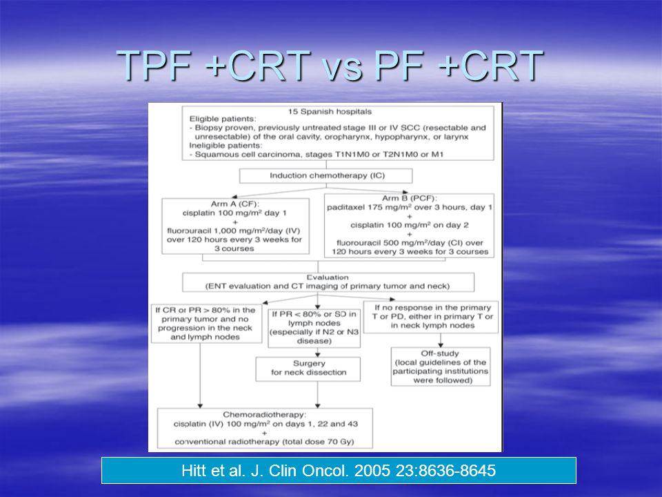 TPF +CRT vs PF +CRT Hitt et al. J. Clin Oncol. 2005 23:8636-8645
