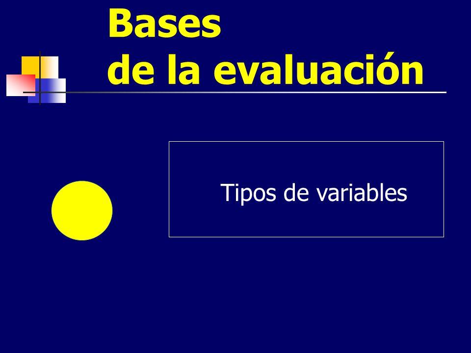 Bases de la evaluación Tipos de variables