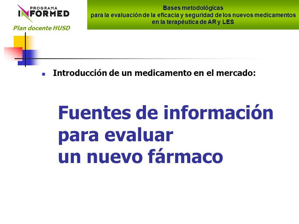 Fuentes de información para la evaluación 1.Ficha técnica Indicaciones aprobadas 2.