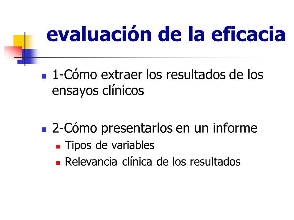 Identificación de resultados del estudio de interés para la evaluación Resultados principales o primarios De interés es el resultado principal que responde al objetivo principal y al diseño del estudio.