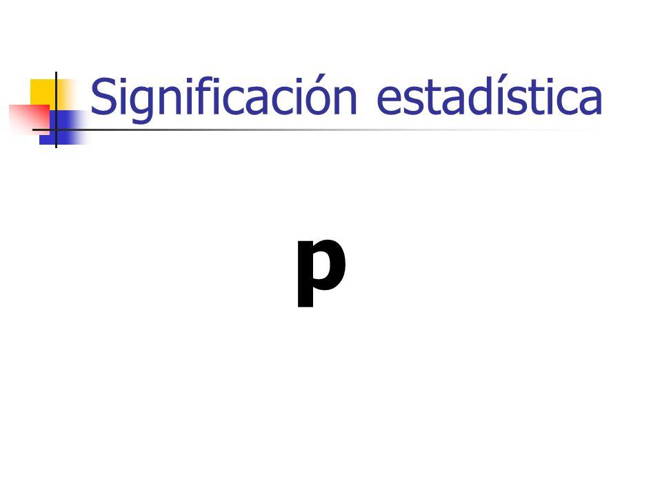 Significación estadística (p) Significación estadística.