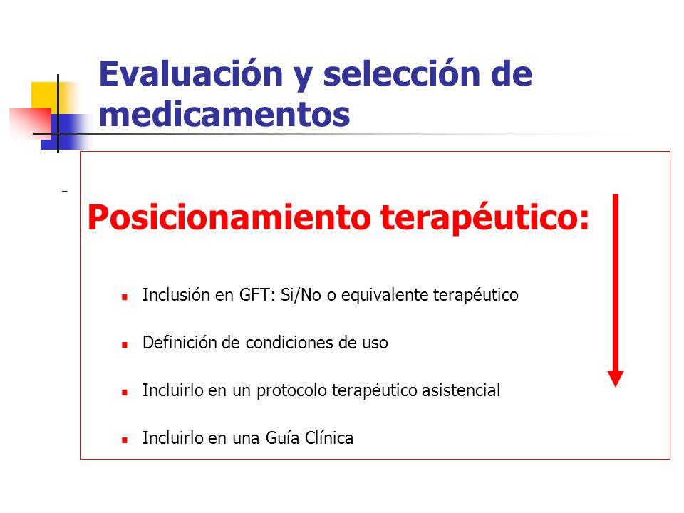 Identificar el lugar del fármaco en terapéutica El reto: La incorporación de los métodos de la economía de la salud en el proceso de selección no para ahorrar, es para ser eficiente.