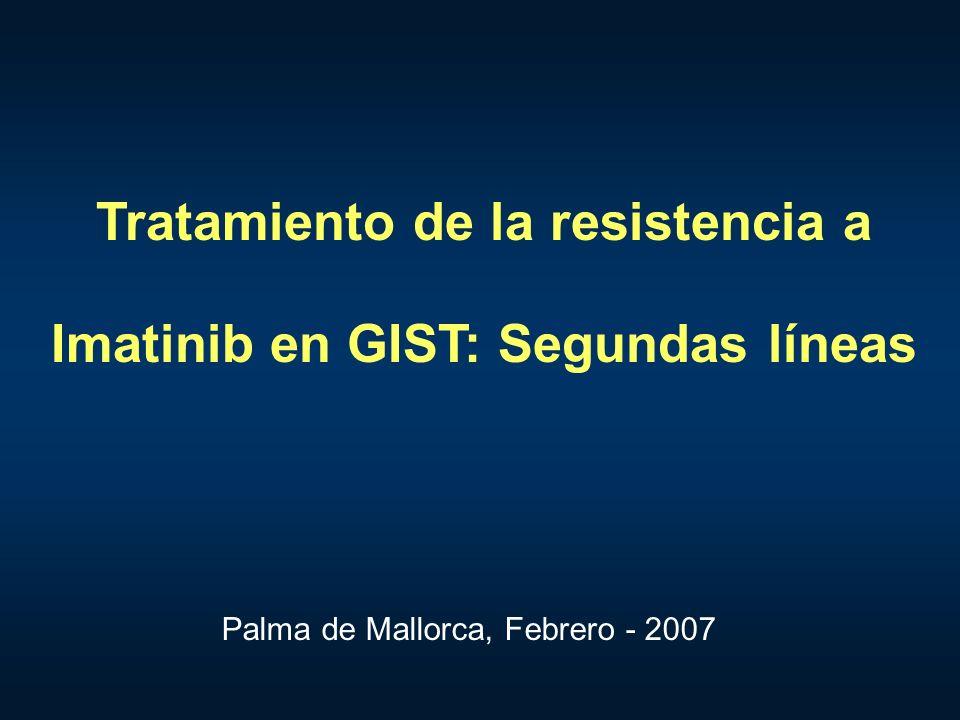 Tratamiento de la resistencia a Imatinib en GIST: Segundas líneas Palma de Mallorca, Febrero - 2007