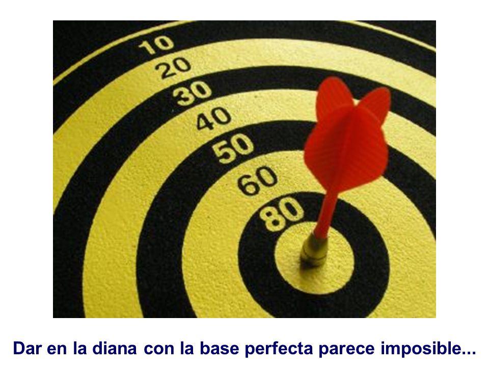 Dar en la diana con la base perfecta parece imposible...