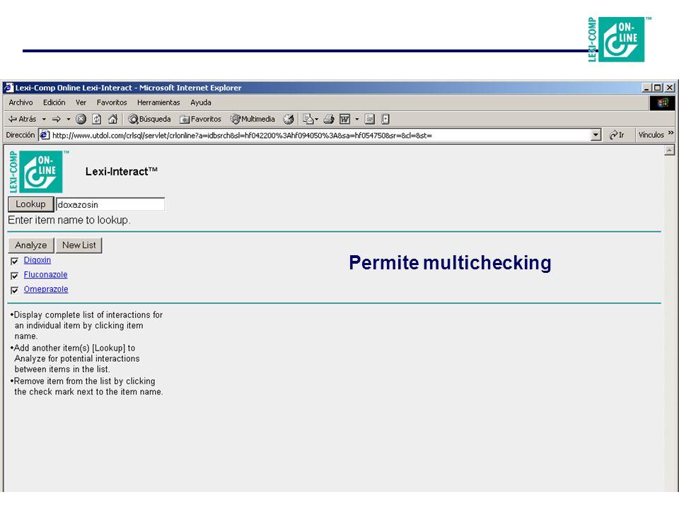 Permite multichecking