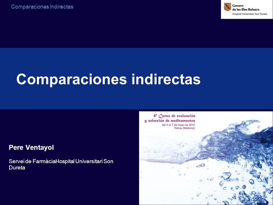 Comparaciones Indirectas Pere Ventayol Servei de FarmàciaHospital Universitari Son Dureta Comparaciones indirectas