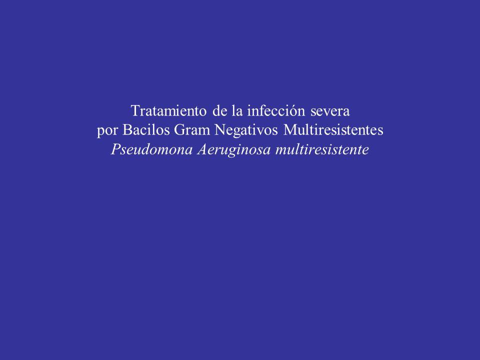 Generalidades: infecciones por Pseudomona aeruginosa Patógeno nosocomial en pacientes con enfermedades de base.