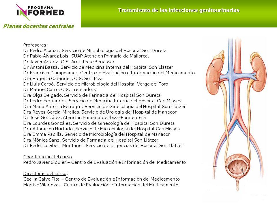 Planes docentes centrales Profesores: Dr Pedro Alomar. Servicio de Microbiología del Hospital Son Dureta Dr Pablo Álvarez Lois. SUAP Atención Primaria
