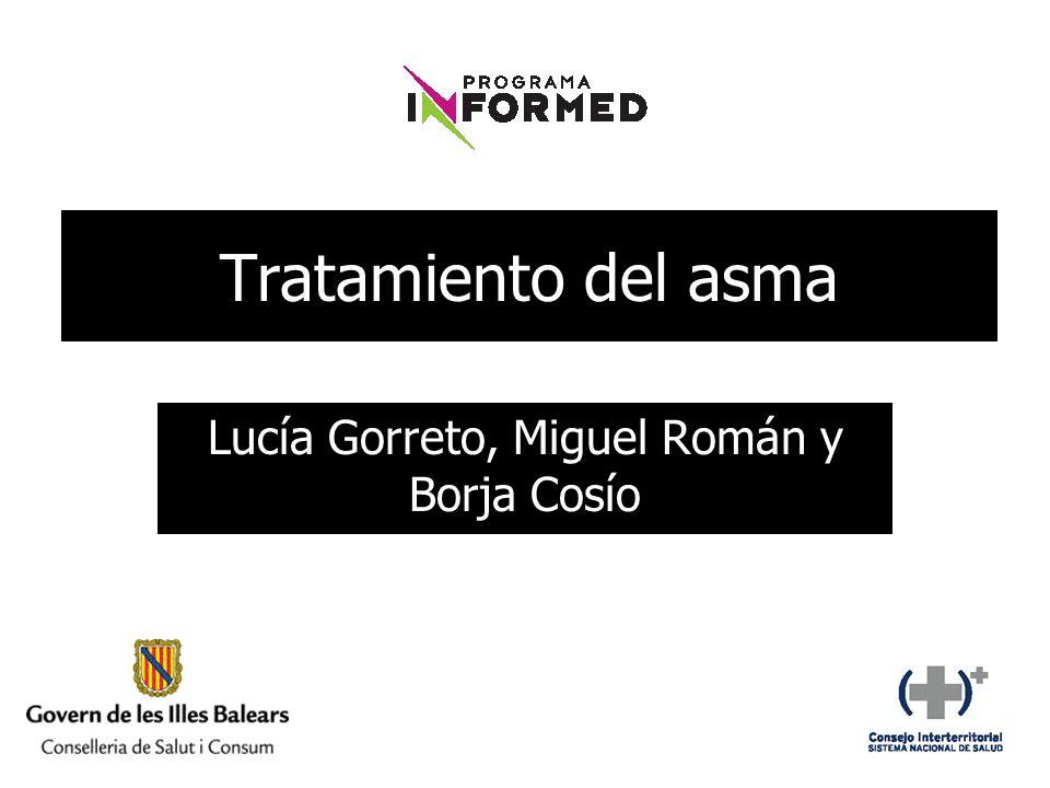 Tratamiento del asma Lucía Gorreto, Miguel Román y Borja Cosío