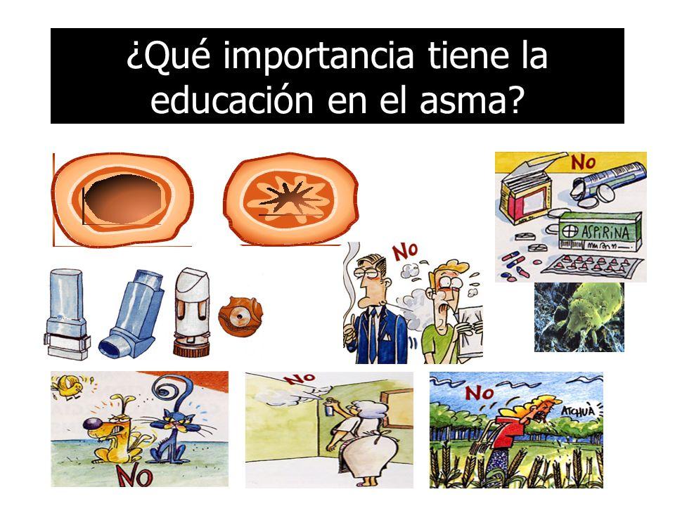 ¿Qué importancia tiene la educación en el asma?