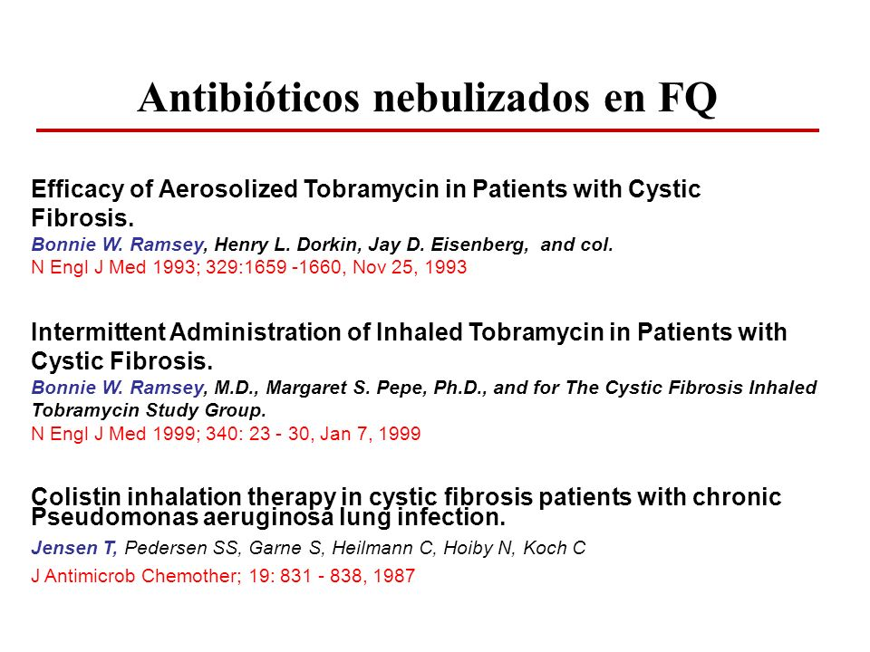 Intermittent Administration of Inhaled Tobramycin in Patients with Cystic Fibrosis. Bonnie W. Ramsey, M.D., Margaret S. Pepe, Ph.D., and for The Cysti
