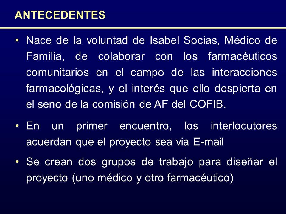 COORDINADORES Y GRUPOS DE TRABAJO Co-diseño del estudio Coordinación de médicos y enfermeros participantes en el proyecto Transmisión, recopilación, y análisis de los informes y respuestas elaborados en el seno del proyecto.