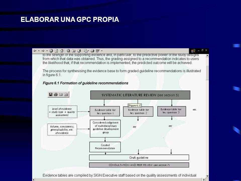 ELABORAR UNA GPC PROPIA