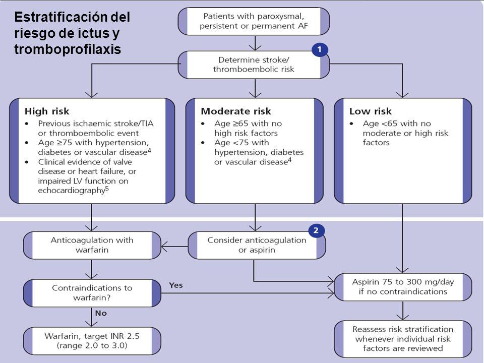 Estratificación del riesgo de ictus y tromboprofilaxis