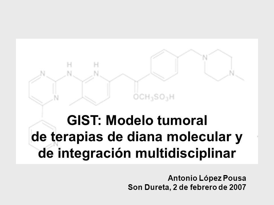 GIST: Modelo tumoral de terapias de diana molecular y de integración multidisciplinar Antonio López Pousa Son Dureta, 2 de febrero de 2007