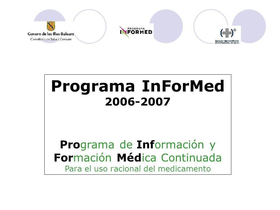 Programa InForMed 2006-2007 Programa de Información y Formación Médica Continuada Para el uso racional del medicamento