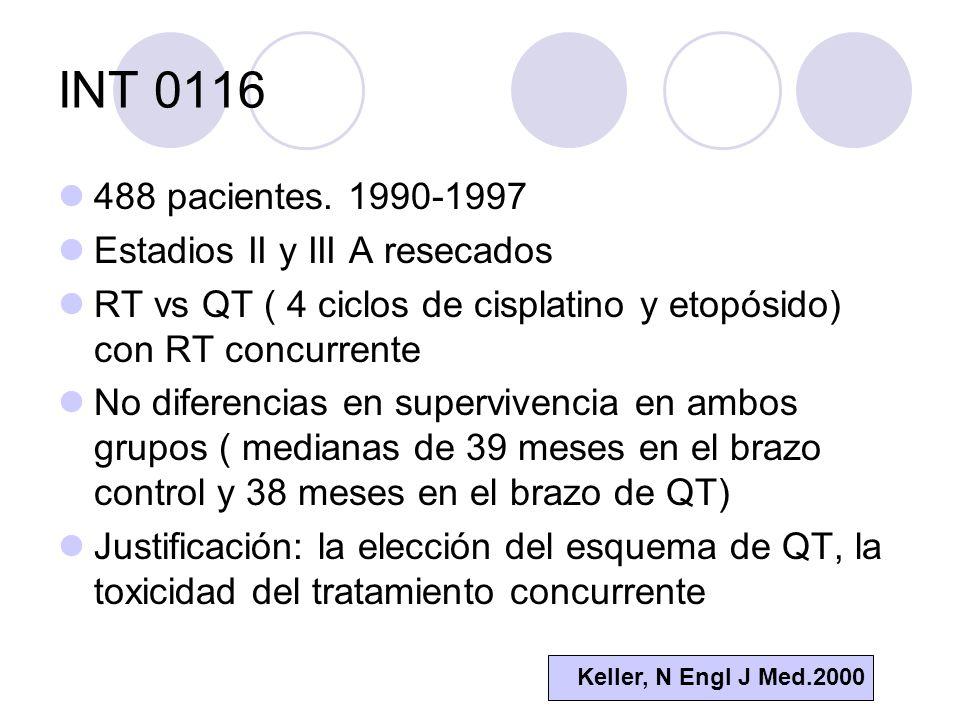 INT 0116 488 pacientes.