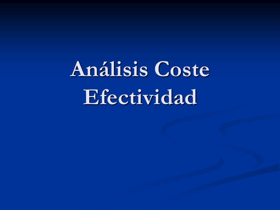 Análisis Coste Efectividad