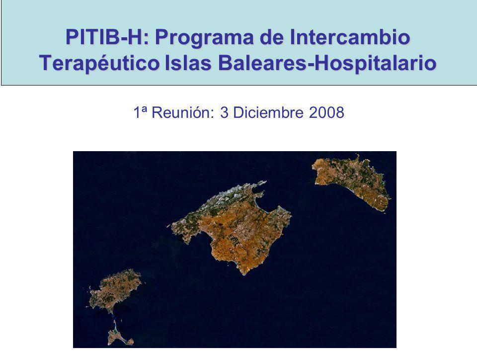 PITIB-H: Programa de Intercambio Terapéutico Islas Baleares-Hospitalario 1ª Reunión: 3 Diciembre 2008