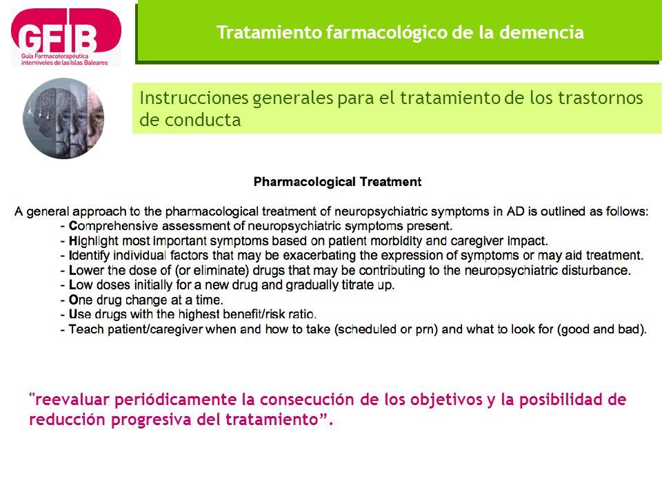 Tratamiento farmacológico de la demencia