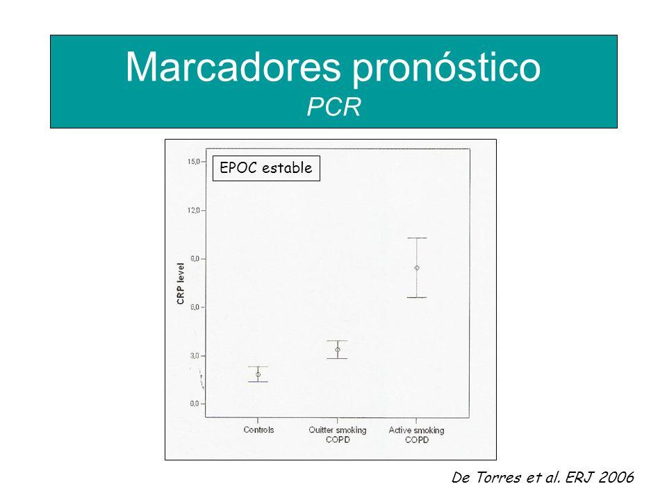 De Torres et al. ERJ 2006 EPOC estable Marcadores pronóstico PCR