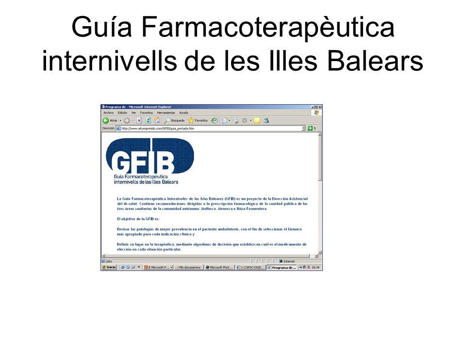Guía Farmacoterapèutica internivells de les Illes Balears