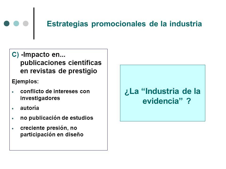 Estrategias promocionales de la industria C) -Impacto en...