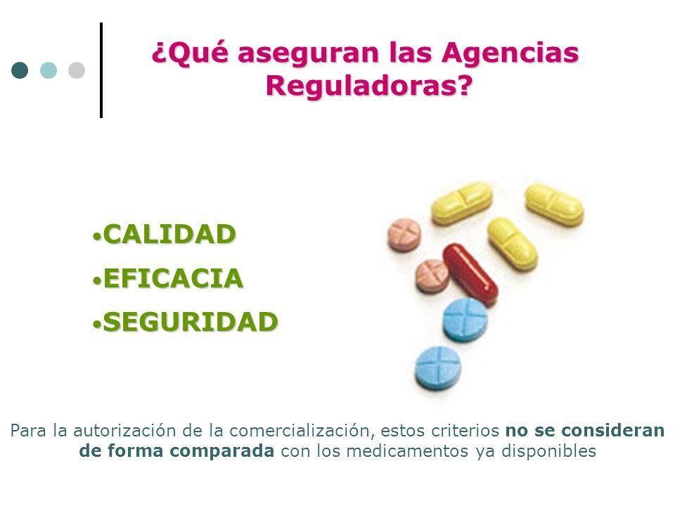¿Qué aseguran las Agencias Reguladoras. Reguladoras.