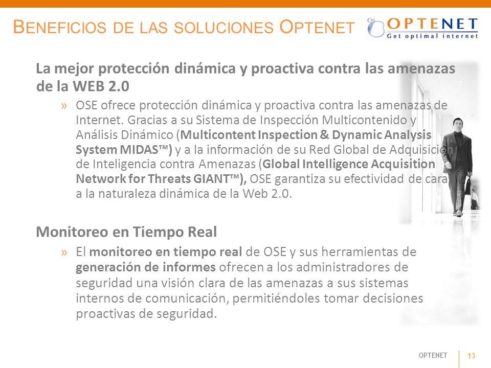 OPTENET 13 B ENEFICIOS DE LAS SOLUCIONES O PTENET