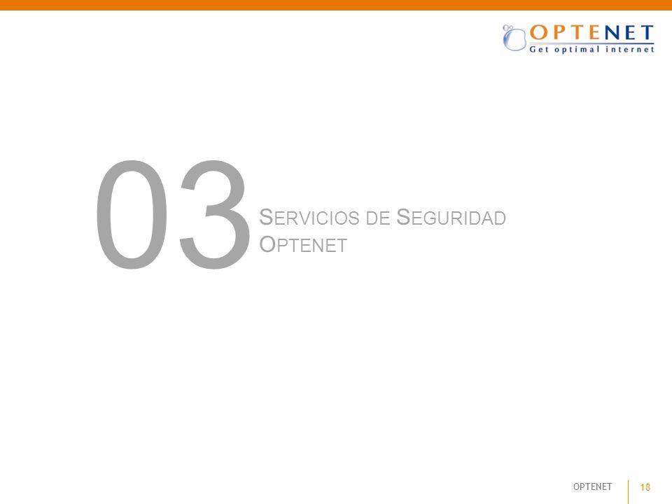 OPTENET 18 S ERVICIOS DE S EGURIDAD O PTENET 03