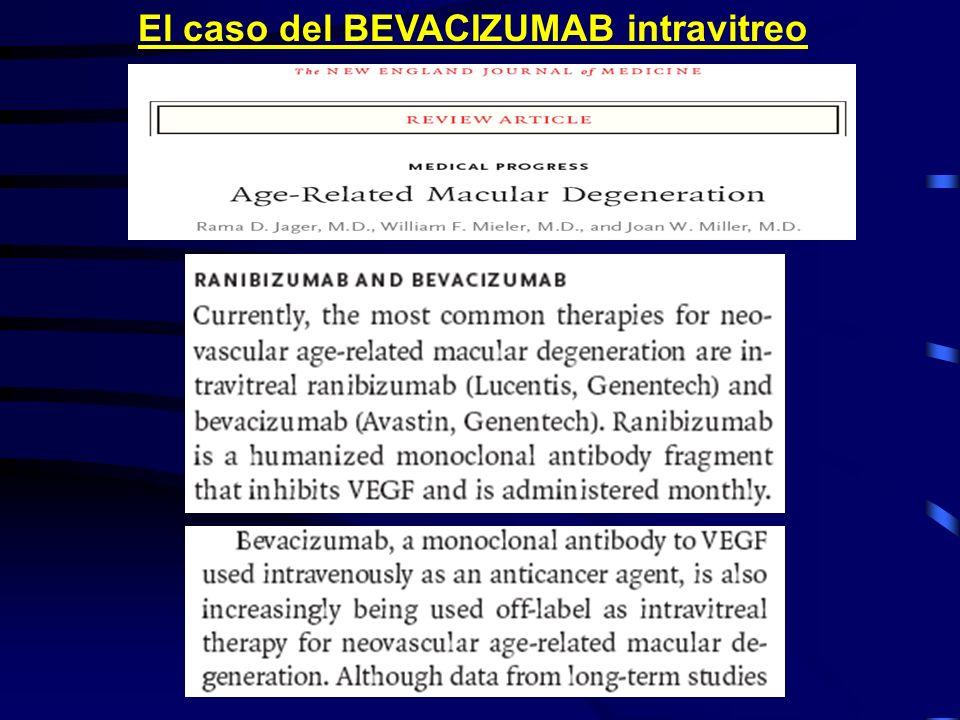 El caso del BEVACIZUMAB intravitreo