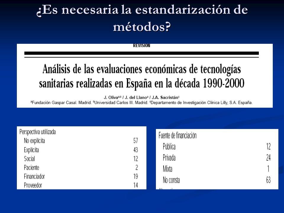 Estandarización de métodos de EETS ¿Qué entendemos por estandarización metodológica? ¿Qué entendemos por estandarización metodológica? Acuerdo de míni