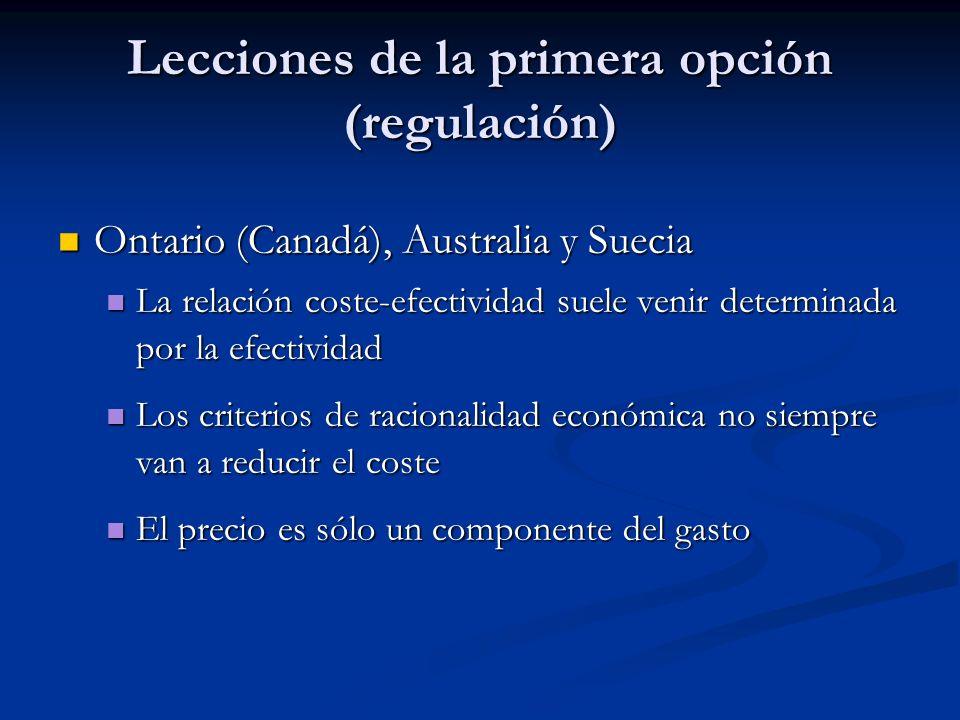 Evaluación económica en la incorporación y/o difusión de tecnologías sanitarias La tercera vía (persuasión) La tercera vía (persuasión) Recomendacione