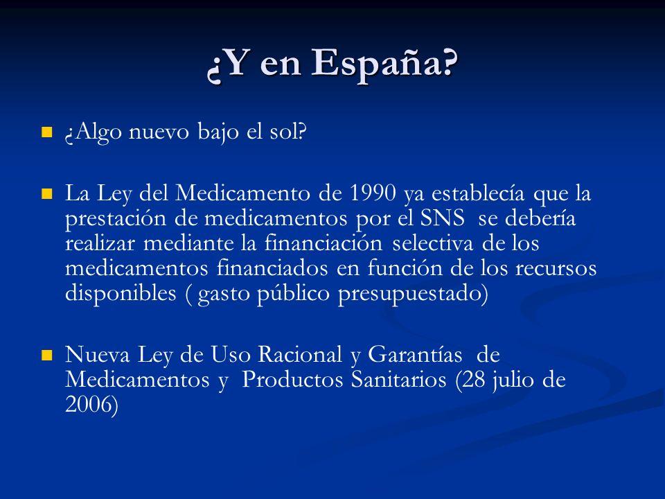 ¿Y en España? La Dirección General de Farmacia y Productos Sanitarios clasificará las novedades farmacológicas que han de ser presentadas a la Comisió