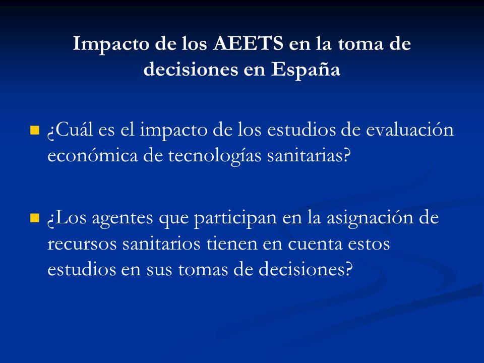¿Y en las Españas? Agencia de Evaluación de Tecnologías de Cataluña Agencia de Evaluación de Tecnologías de Cataluña OSTEBA (Agencia de Evaluación de
