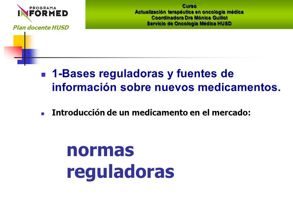 1-Bases reguladoras y fuentes de información sobre nuevos medicamentos.
