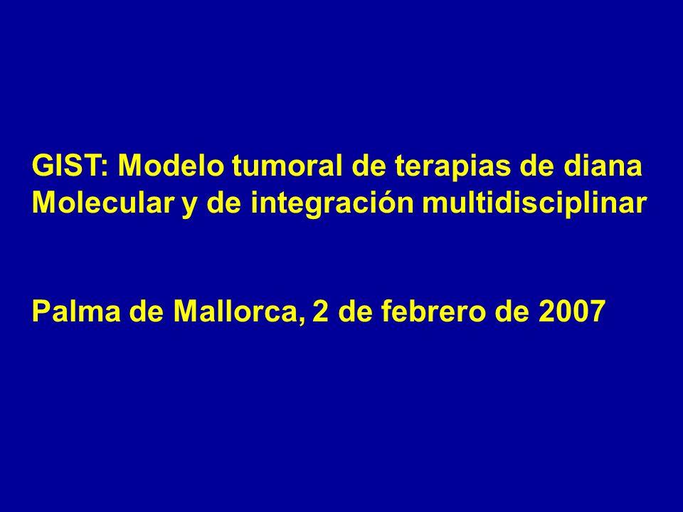 GIST: Modelo tumoral de terapias de diana Molecular y de integración multidisciplinar Palma de Mallorca, 2 de febrero de 2007