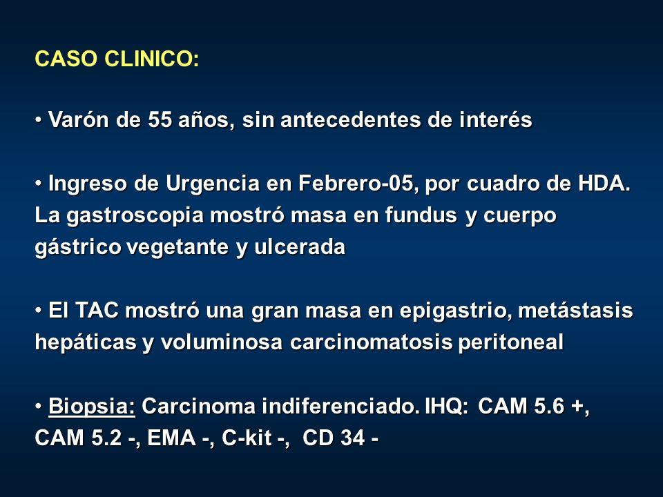 CASO CLINICO: Varón de 55 años, sin antecedentes de interés Varón de 55 años, sin antecedentes de interés Ingreso de Urgencia en Febrero-05, por cuadr