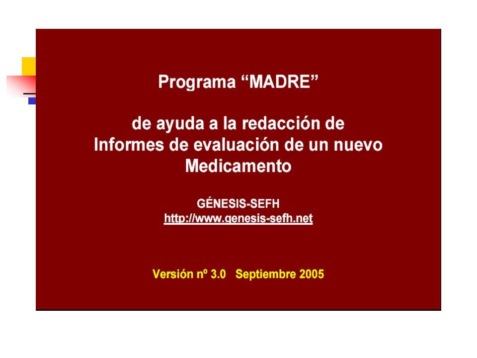 Modelo base del informe de evaluación GENESIS 1. Identificación del fármaco y autores del informe
