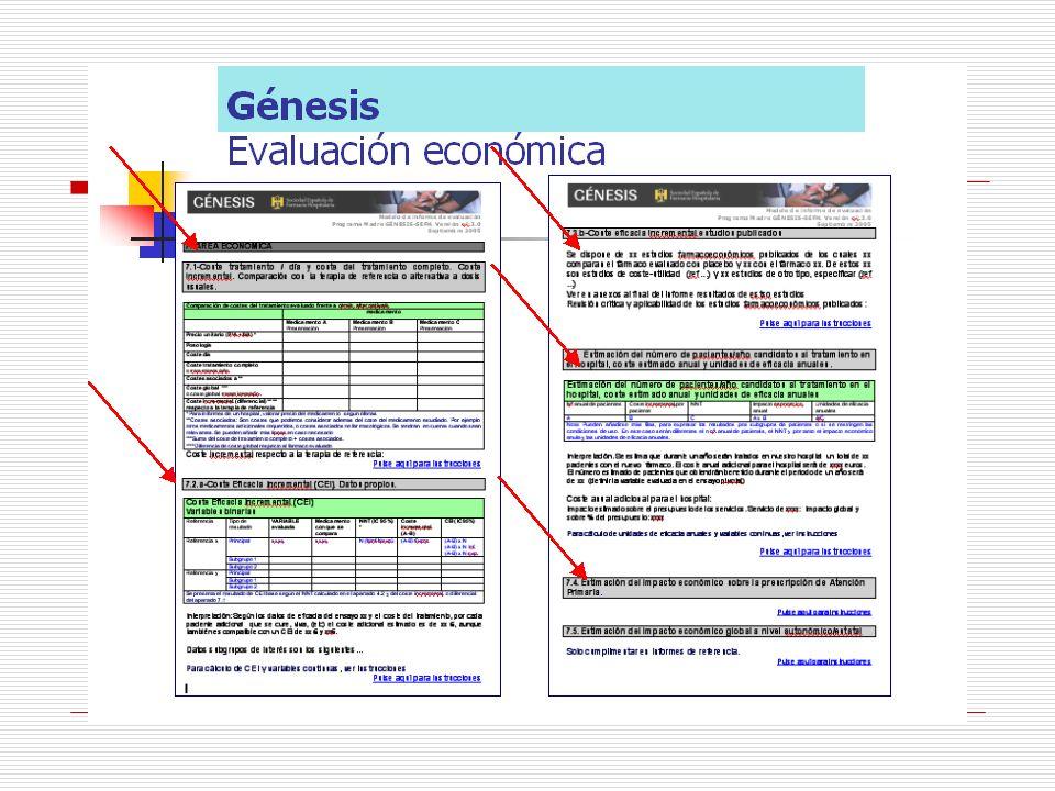 Informes GENESIS 7.Área econòmica 7.1 Coste tratamiento/ día y coste/ tratamiento completo.