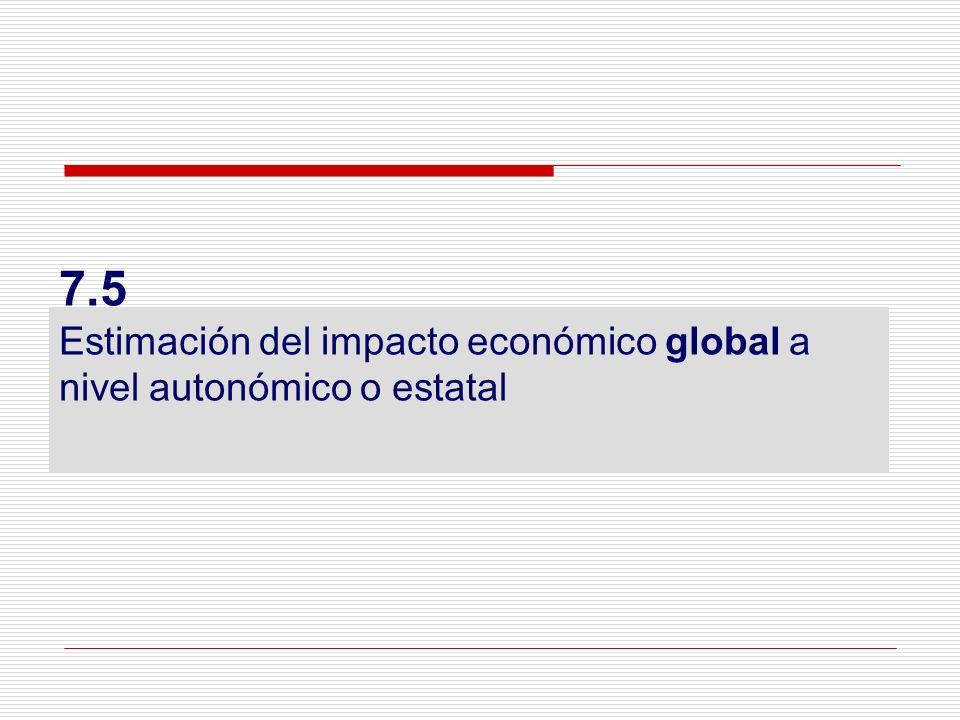 7.5 Estimación del impacto económico global a nivel autonómico o estatal